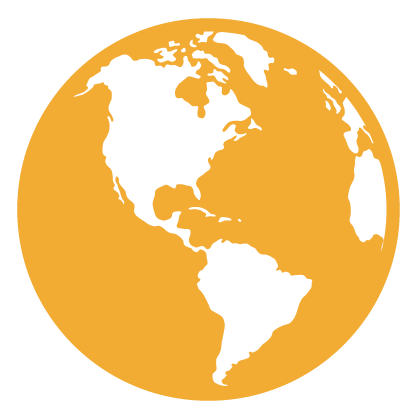 Graphic of the globe in gold