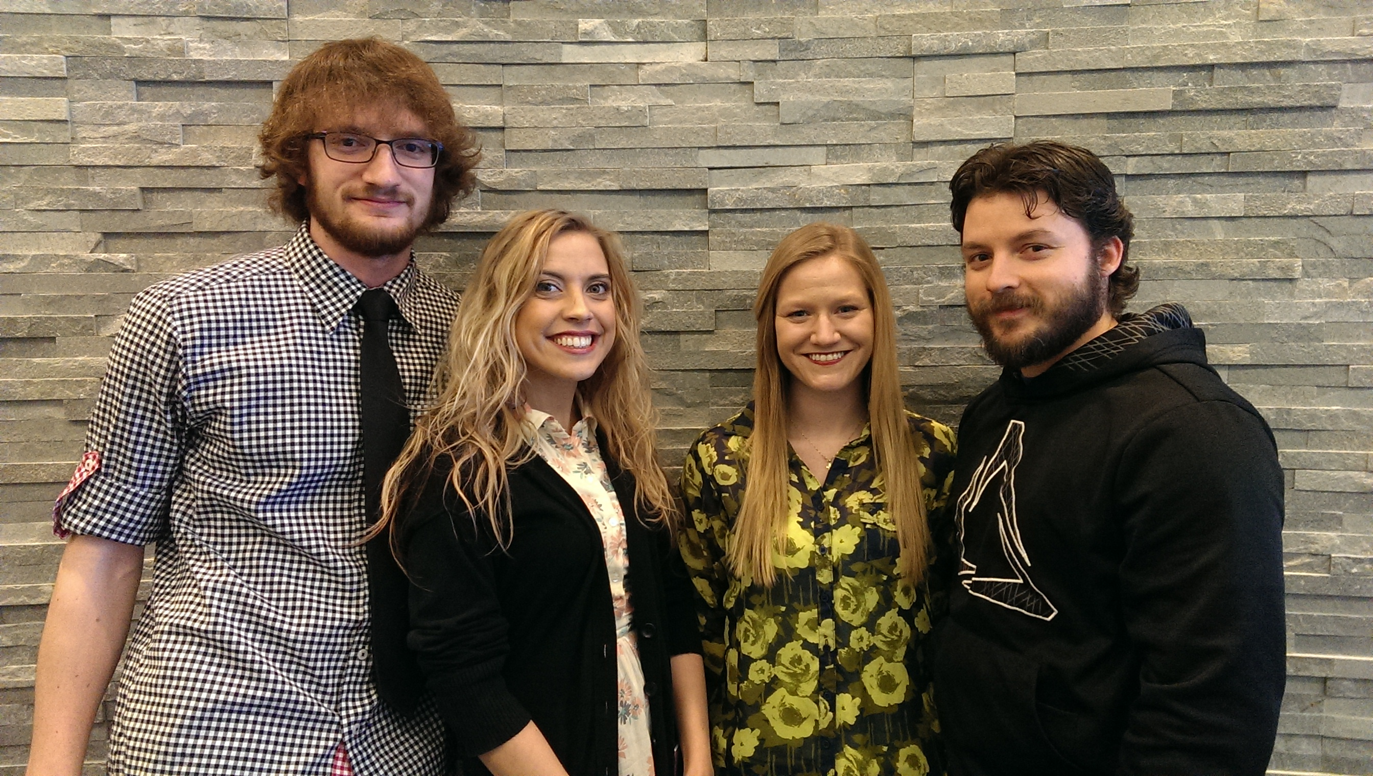 Pictured (left to right) are Vincenzo Sabelli, Shannon Reep, Morgan Fee and Curtis Coulter