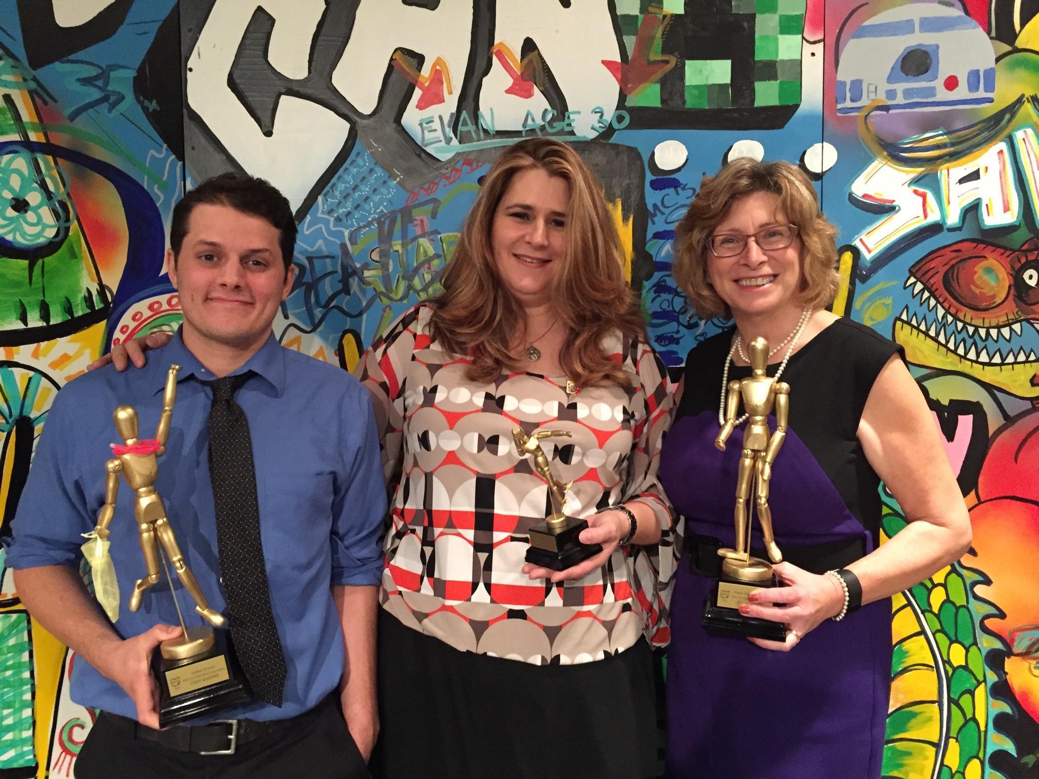 OAEA award winners Cody Knepper, Linda Hoeptner Poling and Juliann Dorff