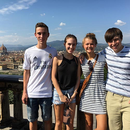 Kent State freshmen from the Honors College enjoy the sights of Italy as they begin their college careers studying overseas at Kent State Florence.