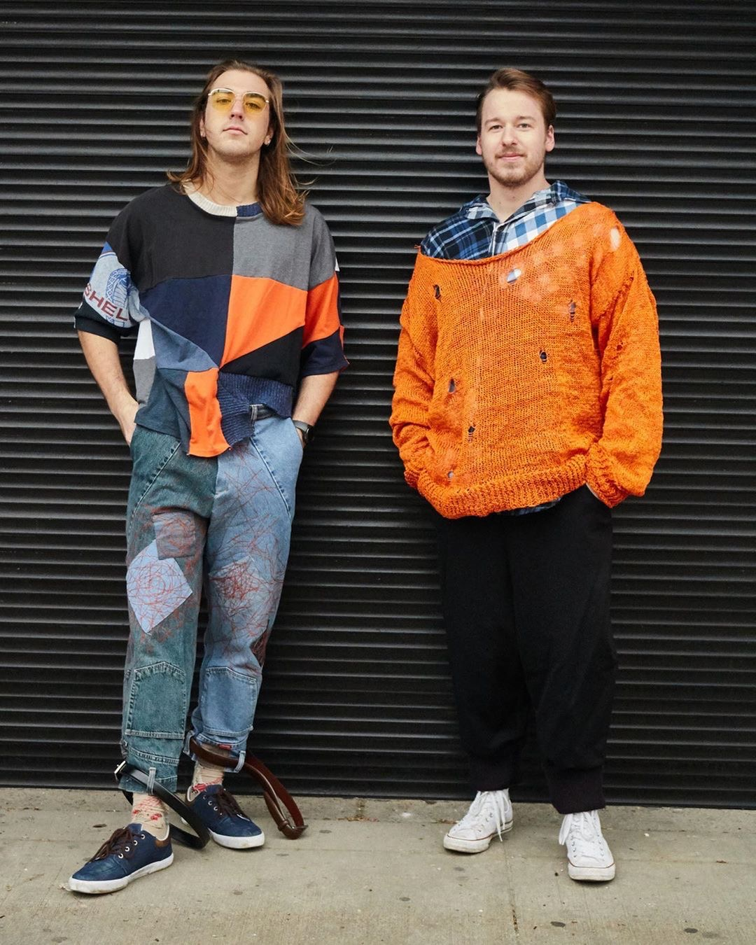 Two looks from Zachary Tatoczenko's collection. His collection won the Sportwear Award during the Kent State School of Fashion's Fashion Show 2.0. Photo by Gabriella Kingston.