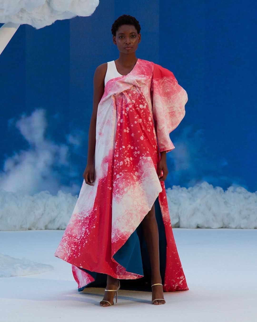 Red and White Runway look by Nguyen from 2020 Supima