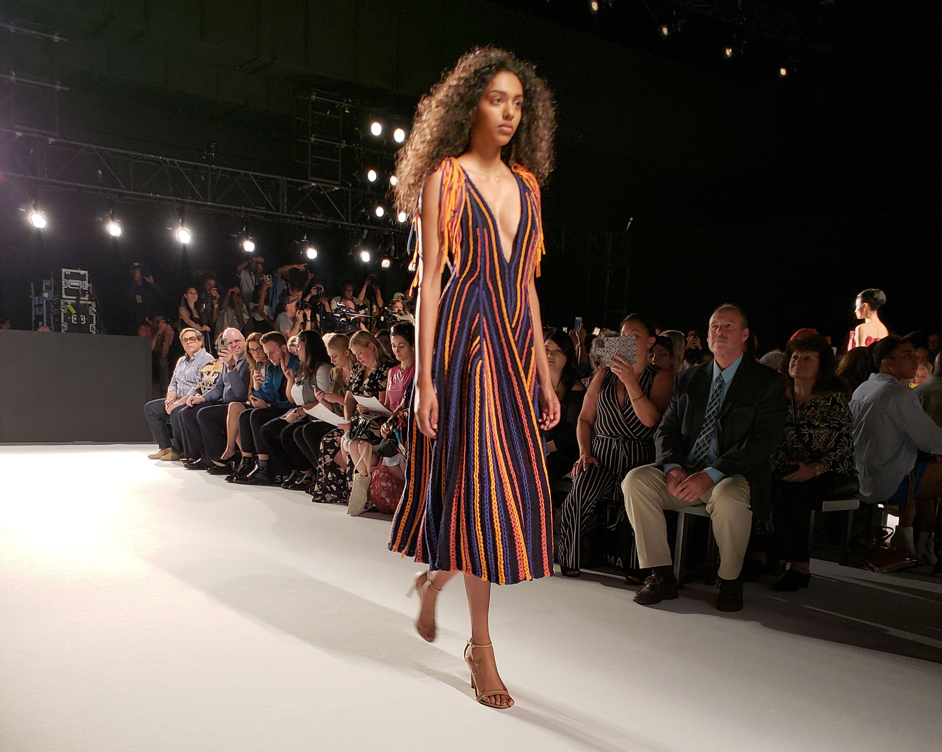 Model on runway at 2018 Supima Design Competition