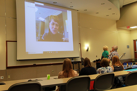 President Warren presented the Award of Distinction to Gary Misich via Skype