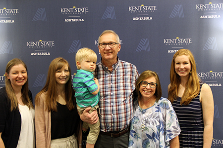 2019 President's Award of Distinction recipient Gary Misich and his family