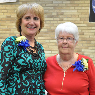 Jan Gibson and Shirlee Bell at the 30th anniversary celebration