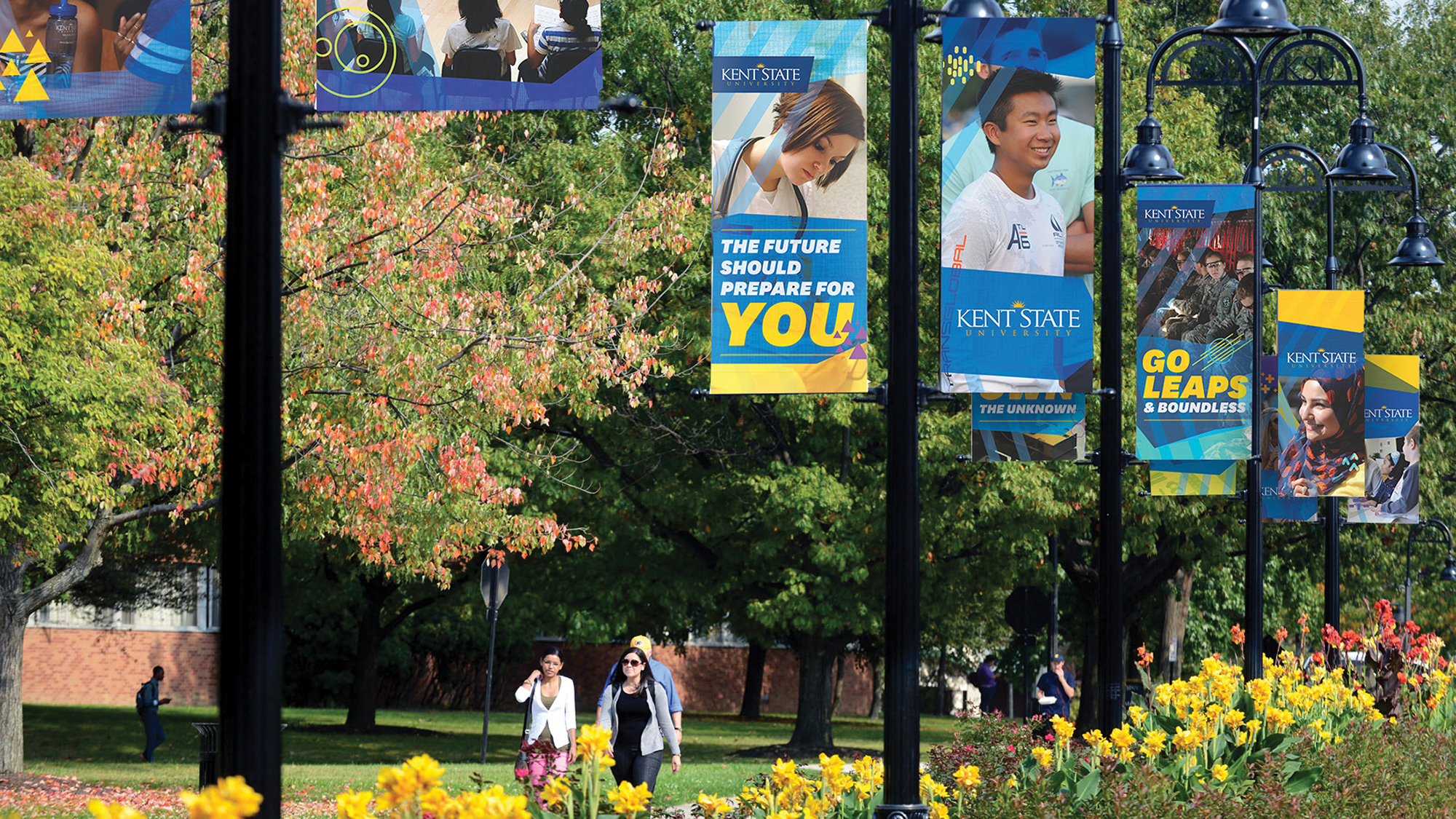 New banners on campus