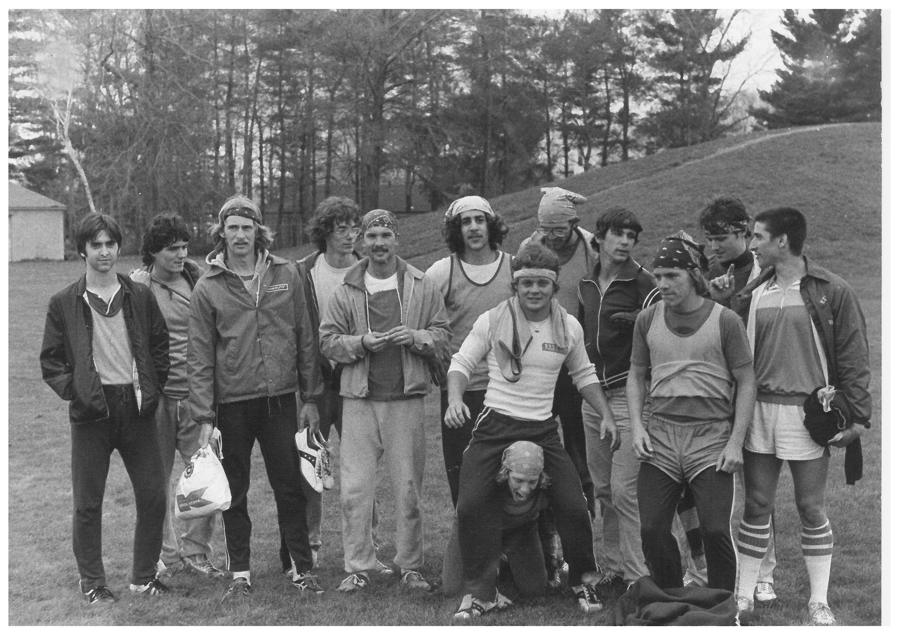 The Kent State Ultimate Frisbee team in 1979, photo courtesy Jerome Wachholz, BS '79