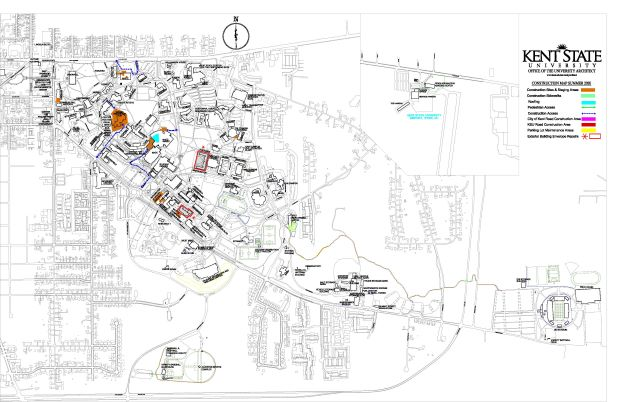 Kent State Office of the University Architect Summer 2020 Construction Map
