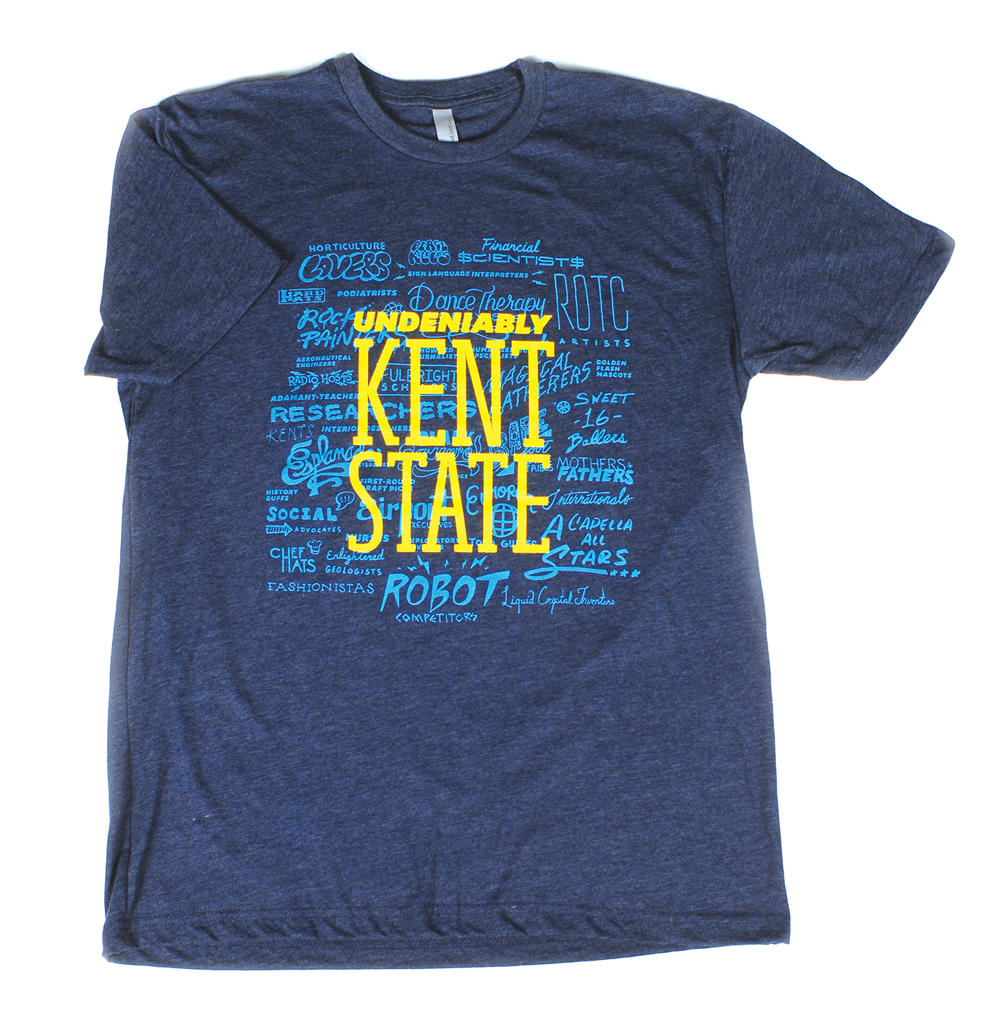 Undeniably Kent State shirt given out at the launch event on February 1