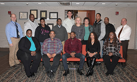 "The pilot class of the Kent State University/Turner School of Construction ""Workshop Series"" poses for a group photo."