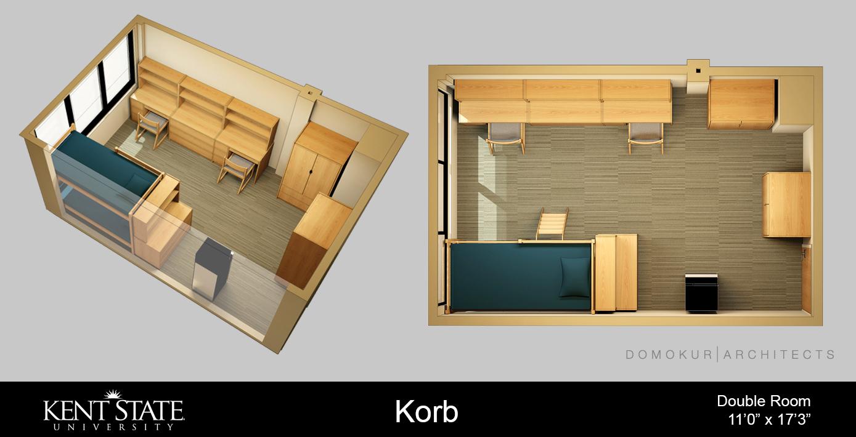 Diagram of double room