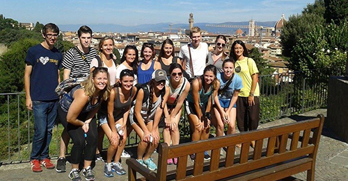 Kent State students in Florence