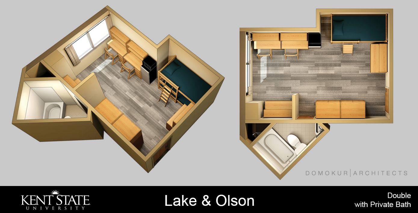 View the Lake and Olson Double room with Private Bath