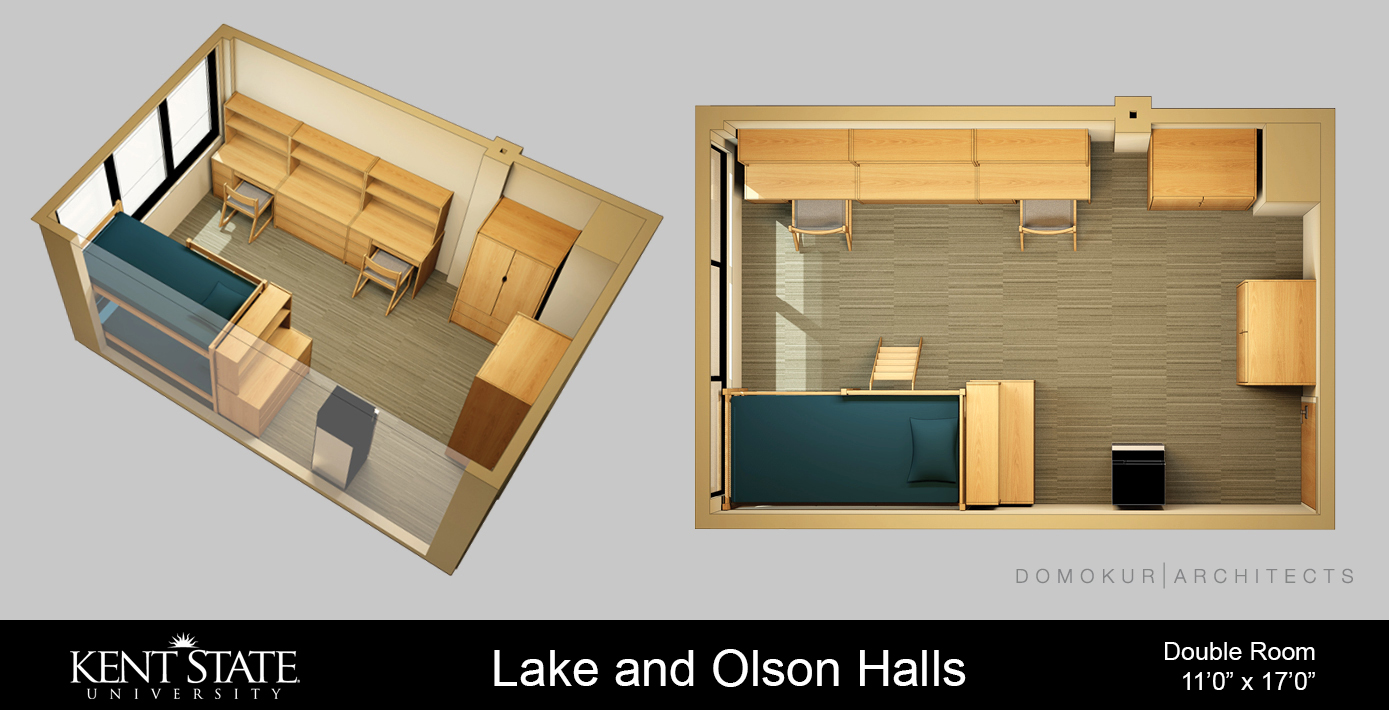 View the Lake and Olson Double room diagram in high resolution