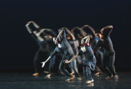 Dancers with the Limón Dance Company of New York City choreograph a psalm by José Limón. The dance company will perform a free concert at Kent State University on Dec. 6. Photo credit: Douglas Cody.