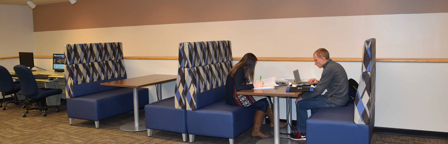 Students in the newly dedicated Lang Learning Loft