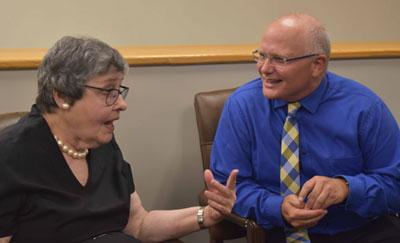 Mary Sue Lang and Dr. David Dees