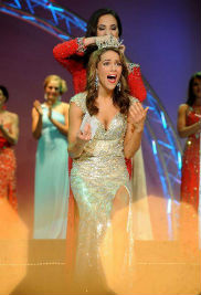 Kent State University student Heather Wells was crowned Miss Ohio 2013 on June 22. Wells will represent the state of Ohio at the Miss America competition in September at Atlantic City, N.J.  (Photo credit: Jason J. Molyet, Mansfield News Journal)
