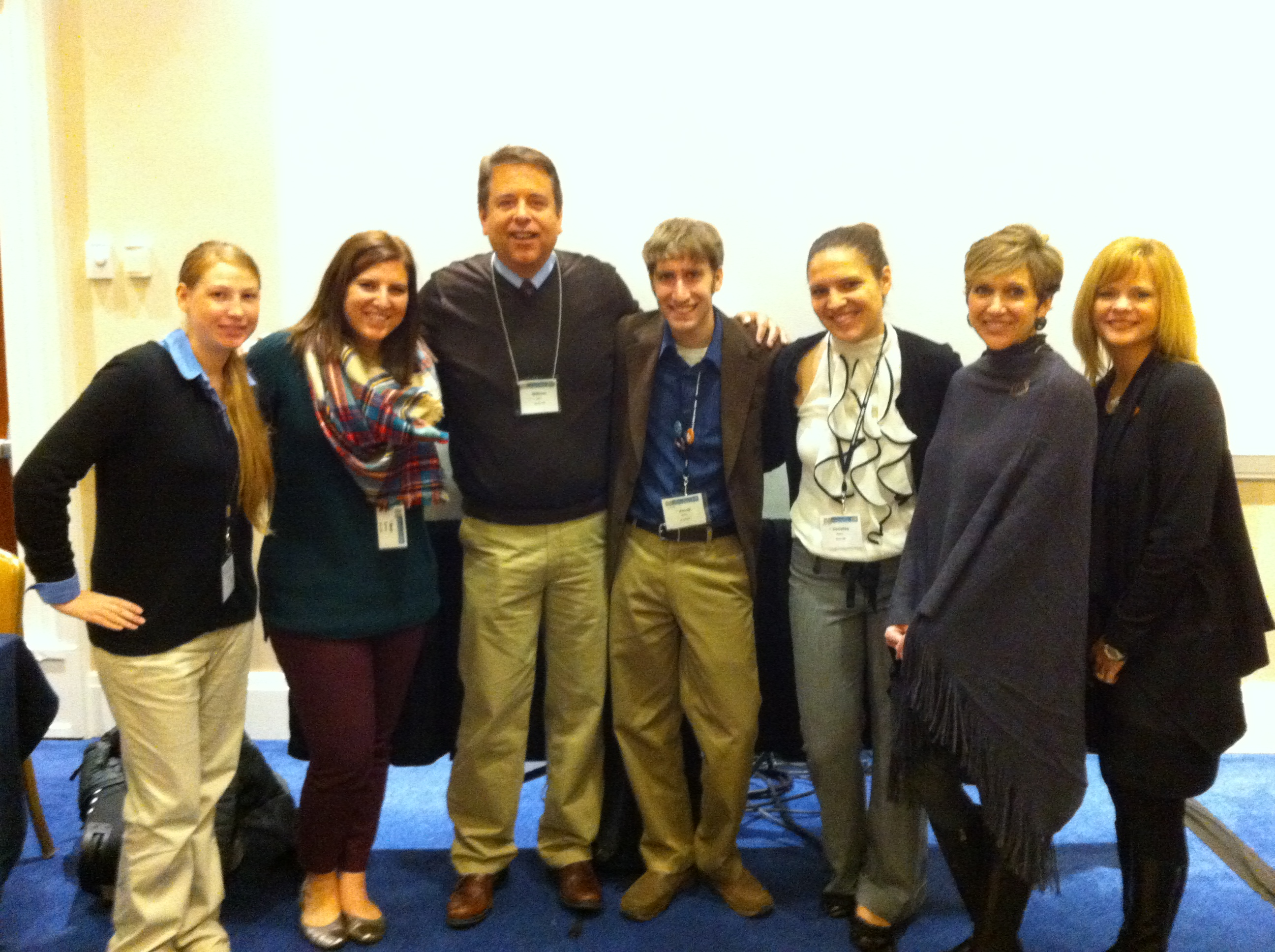Dr. Kist, Dr. Testa et al. at National Council of Teachers of English conference