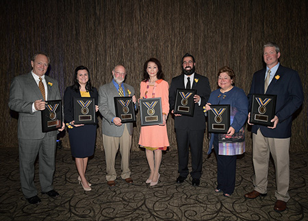 Six alumni and one student were recognized at Kent State University's 2017 Alumni Awards Ceremony in October.