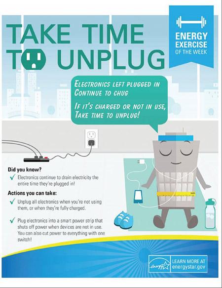 Take time to unplug.