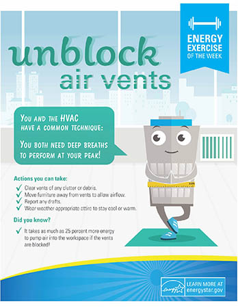 Energy Tip of the Week: Unblock Air Vents