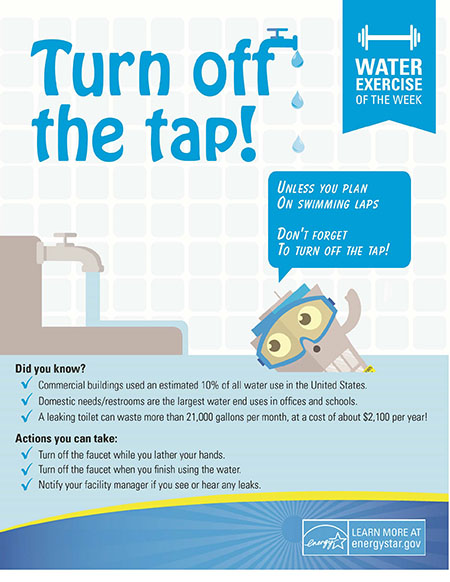 Energy Tip of the Week: Turn Off the Tap