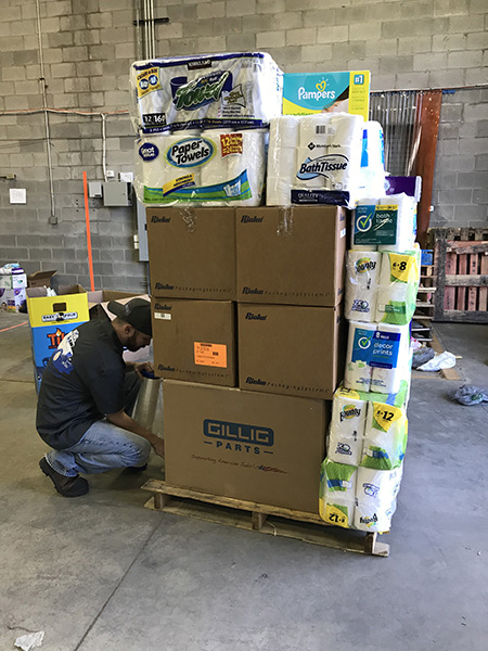 Kent State partnered with local organizations to collect donations for families struggling after Hurricane Irma.