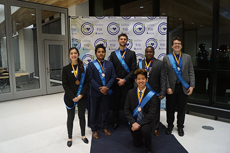 The Kent State University team poses for a photo during the MISSION: LIFE VI international innovation competition.