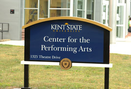 The Music and Speech Center on the Kent Campus is now known as the Center for the Performing Arts.