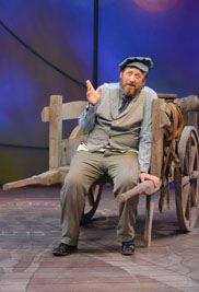 George Roth plays patriarch Tevye in Porthouse Theatre's production of Fiddler on the Roof. The production was honored with awards in six categories by the Cleveland Critics Circle.