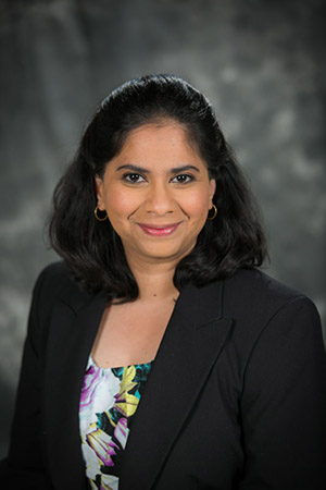 Swathi Ravichandran, Ph.D., will join the Office of the Provost in August to serve as the 2017-2018 Provost's Fellow.