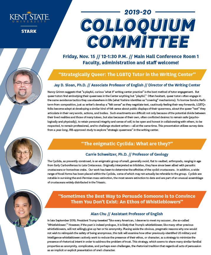 Nov 2019 Faculty Colloquium