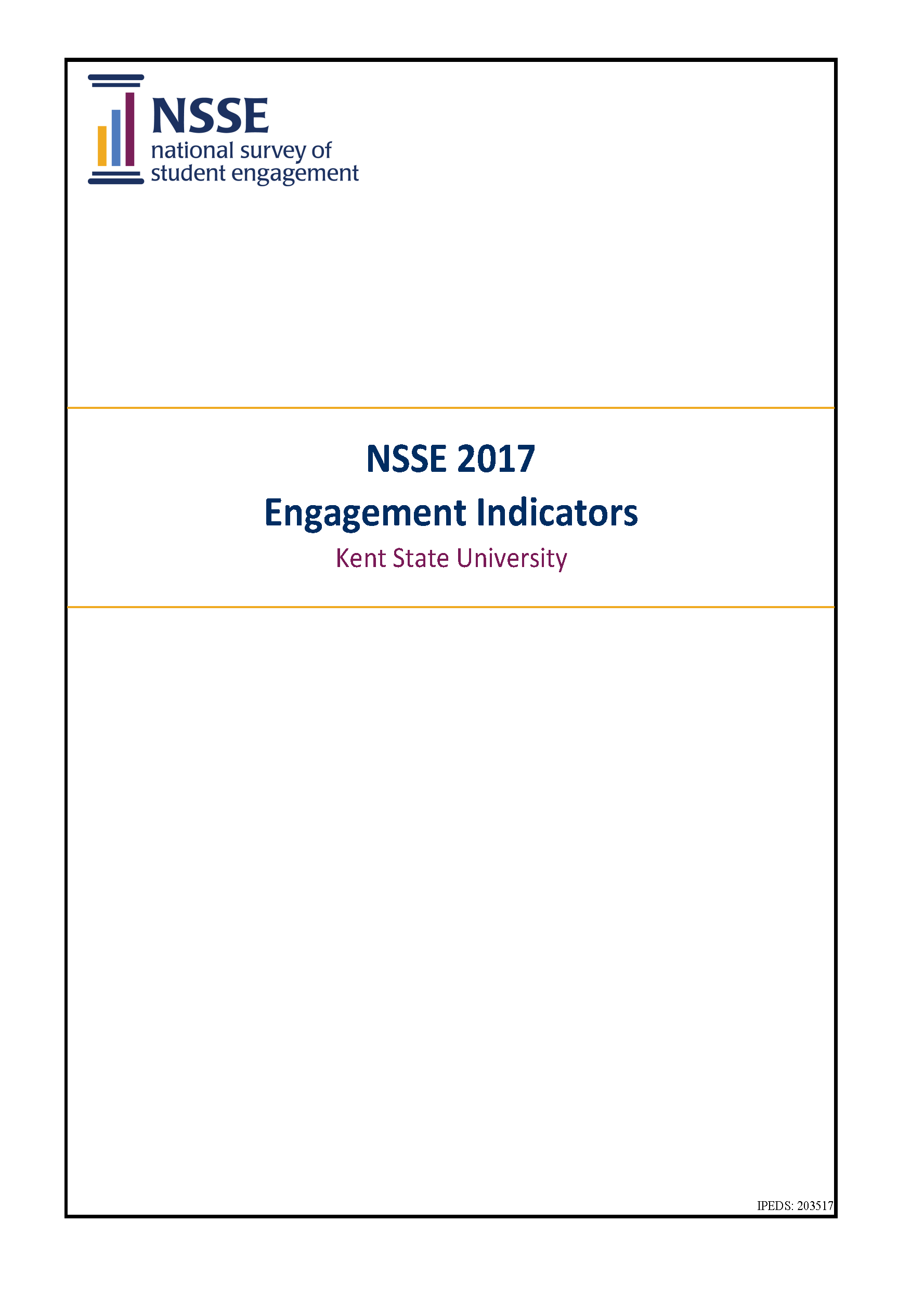 2017 NSSE Engagement Indicators Results