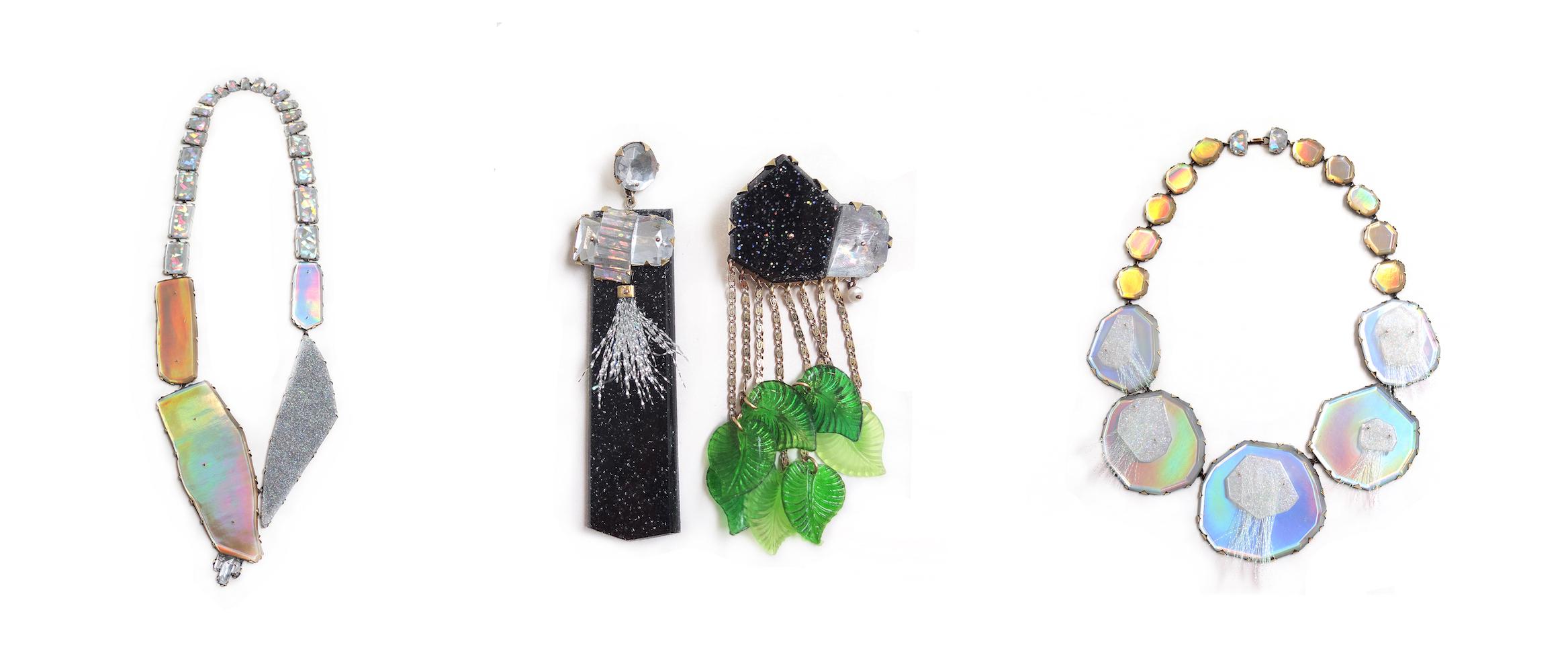 Work by jewelry artist Nikki Couppee