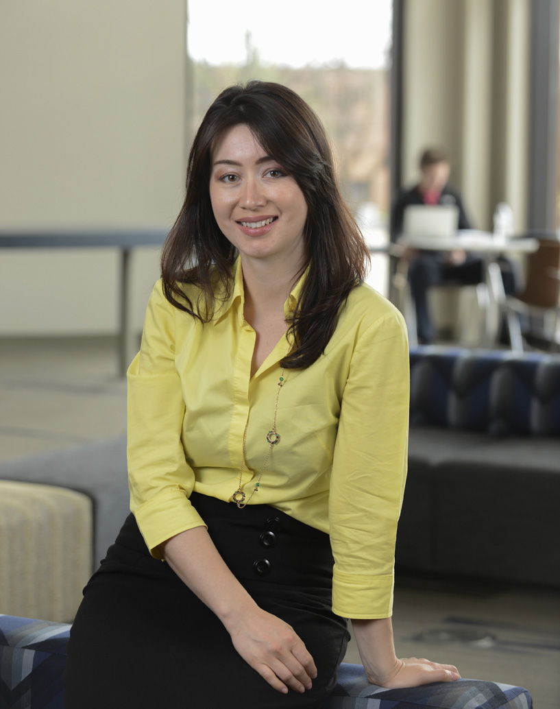 Nilufar Nurinova, a Kent State graduate student majoring in epidemiology, has been a co-op student in the microbiology research and development area at GOJO Industries since September 2014.