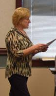 Nina Sullivan speaks at the OT-PT Seminar