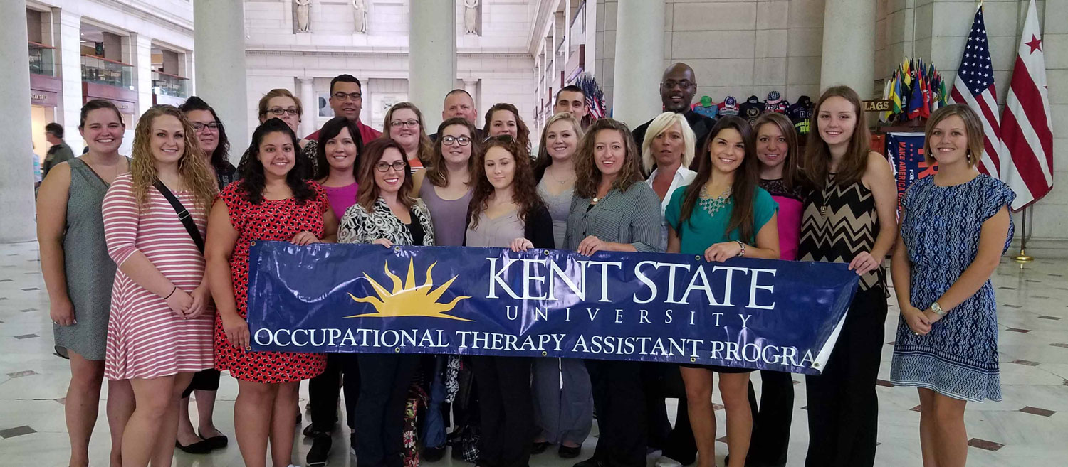 Kent State East Liverpool students from the occupational therapy assistant program attended Hill Day in Washington, D.C.