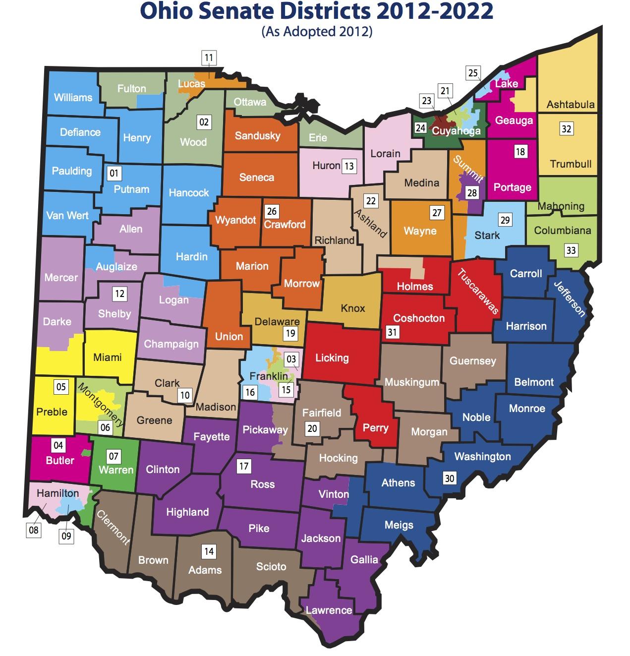Ohio Senate Map 2