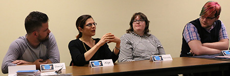 Panelists on a Kent State student autism panel answered questions from the audience and shared their experiences at Kent State.