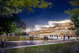 Pictured is a rendering of the new facility for Kent State University's College of Architecture and Environmental Design. The design architects will present an update on the design evolution of the building on Jan. 16 at 7 p.m. in University Auditorium at Cartwright Hall.