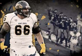 The Kent State football entrance video created by the university's Teleproductions office was selected as one of ESPN's favorites