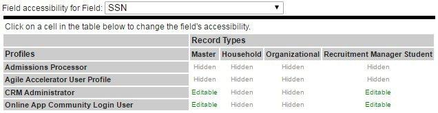 Field Accessibility editor