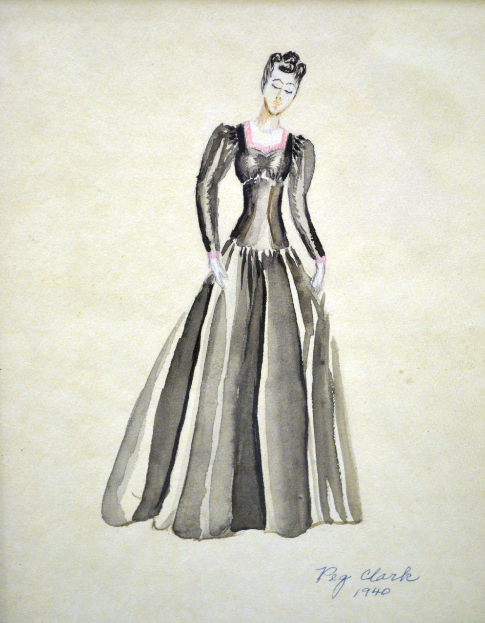Peg Clark Fashion Sketch
