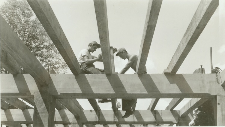 CCC Workers building Ledges Shelter