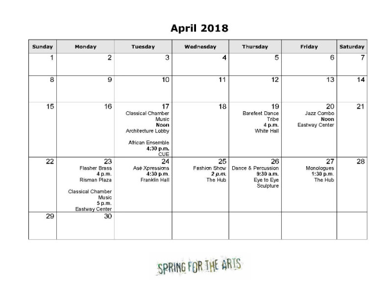 Random Acts of Art and Performance for Spring for the Arts 2018