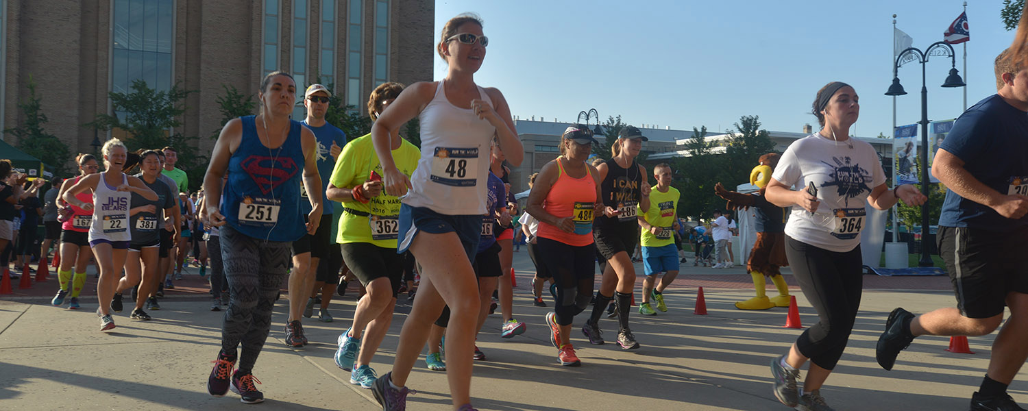 The Run the World race benefits study-abroad scholarships for Kent State University students.