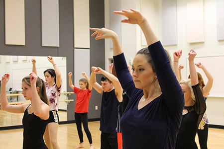 Dancers from the local community will join GroundWorks Dance Theater in a Feb. 11 performance at the Kent State University at Tuscarawas Performing Arts Center.