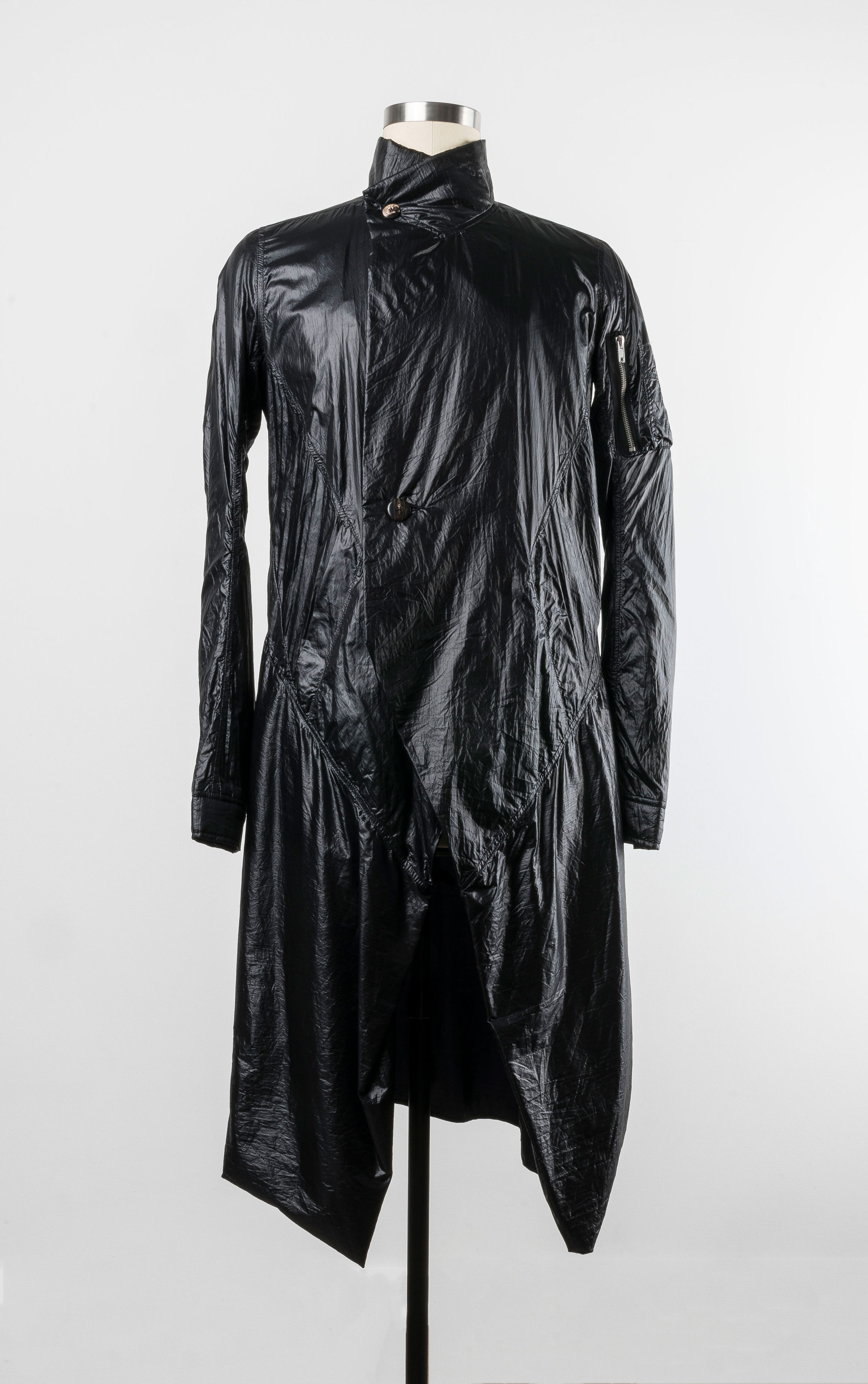 Mutant lab coat, Rick Owens, Spring/Summer 2010, from the wardrobe of Alexandre Marr and Dominic Iudiciani, photograph by Dominic Iudiciani